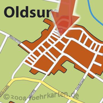 Kamerablick Oldsum Dorfzentrum